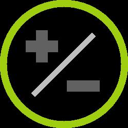Icon persönliche Stärken-/Schwächenanalyse SWOT