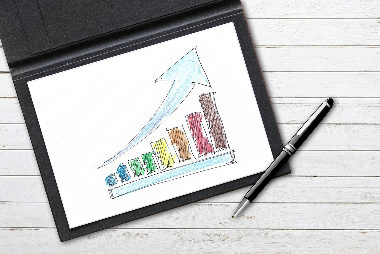 """Bildquelle [https://pixabay.com/en/company-drawing-pen-colorful-paper-3277947/]: """"company drawing pen colorful paper arrow success"""" von geralt, Lizenz: CC0"""